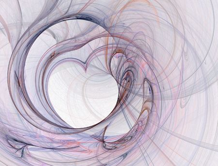 winding: abstract winding heart pattern Stock Photo
