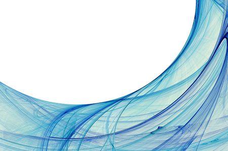 Electric blue fractal grens