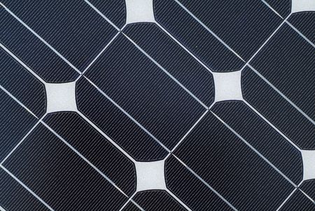 close up detail of solar panel photo