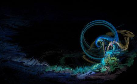 Blue wave background image