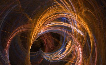 orange curve fractal background image