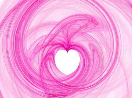corazon: pink abstract heart illustration