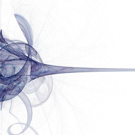 fractals: blue swirling fractal image on black  Stock Photo