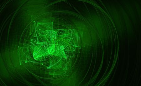 radiate: Glowing green abstract background Stock Photo