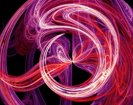 Abstract purple burst fractal design Stock Photo
