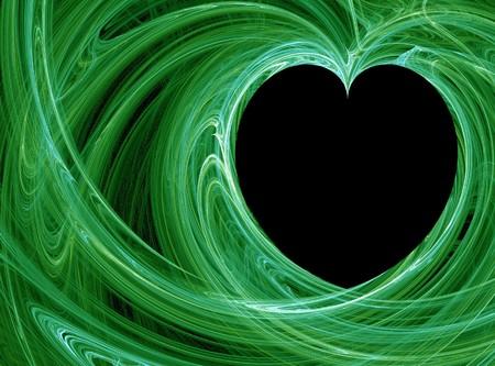 wispy: green wispy heart pattern