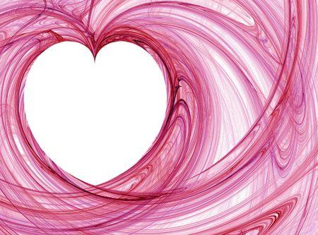 wispy: red wispy heart pattern Stock Photo
