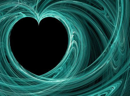 wispy heart pattern photo