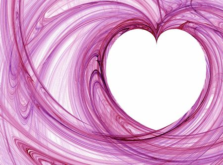 graphical: wispy heart pattern