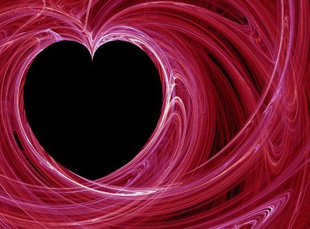 wispy red heart pattern background Stock Photo