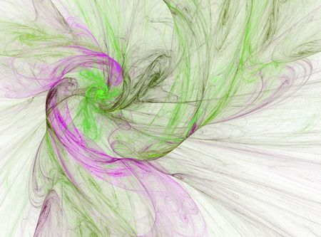 vivid colors: smokey purple and green spiral