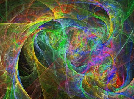 Fun Abstract Vibrant Rainbow Design photo