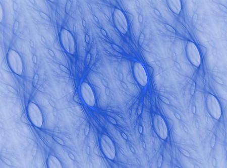blue cell fractal pattern background design