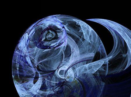 glows: blue illuminating abstract sphere design