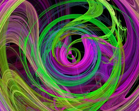 green lines: green purple  spiral design image