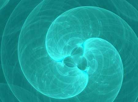 Abstract turquoise spiral background graphic