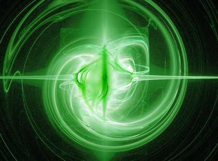abstract glowing green energy burst design photo