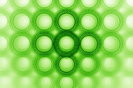 green background: Vivid green bubble circle pattern design background