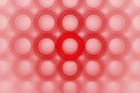 Vivid bold red bubble circle pattern design background photo