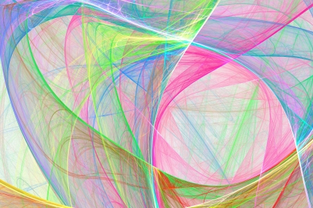 fractal pink: soft colorful pastel curve background Stock Photo