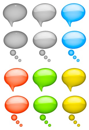 conversing: TALK BUBBLES  Stock Photo