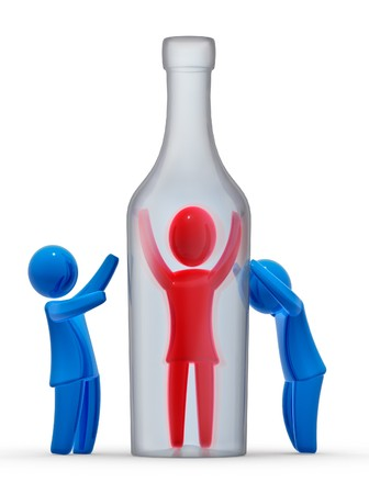 imprisoned person: ALCOHOLISM