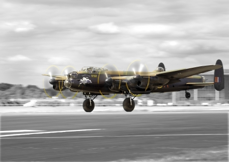 Lancaster Bomber taking off