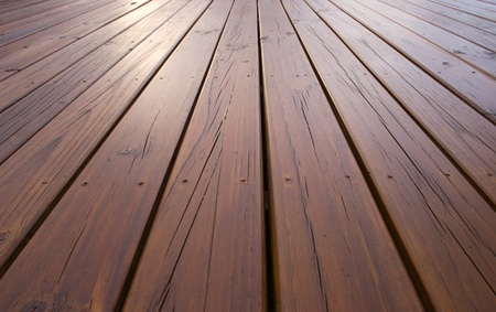 treated: Wooden decking