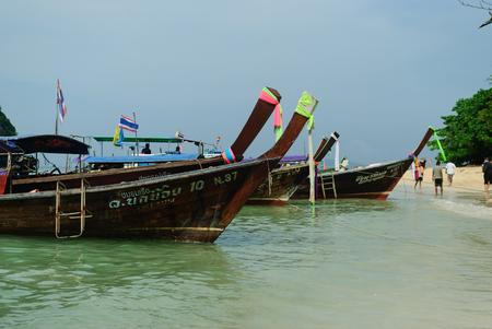 krabi: Krabi Boat Thailand Stock Photo