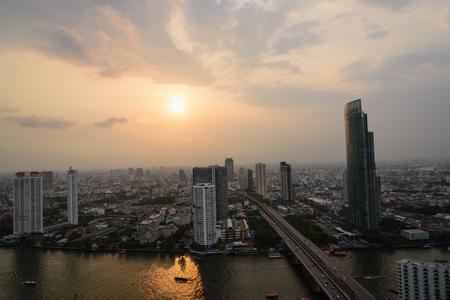 viewport: Bangkok View Night Stock Photo