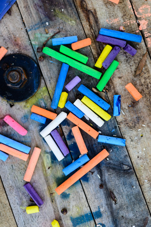 white chalks: Chalk Color Vertical