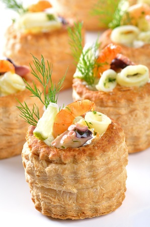 puff: Stuffed puff pastry shells