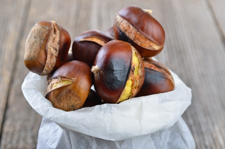 Roasted chestnuts Reklamní fotografie