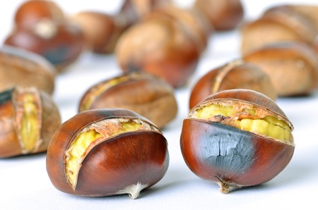 Roasted chestnuts photo