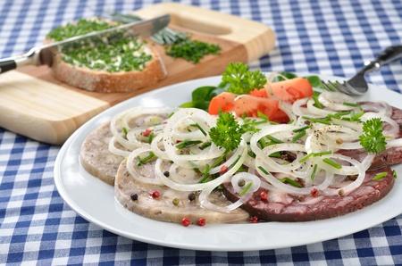 Bavarian snack (red and white 'Pressack') Stock Photo - 11589839