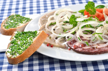 Bavarian snack (red and white 'Pressack') Stock Photo - 11589844