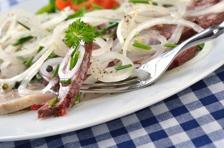 Bavarian snack (red and white 'Pressack') Stock Photo - 11589833