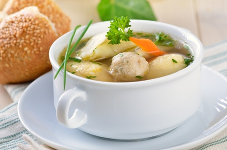 Delicious wedding soup photo