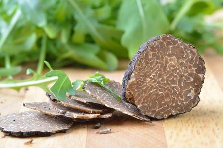 Verse zwarte truffel Stockfoto