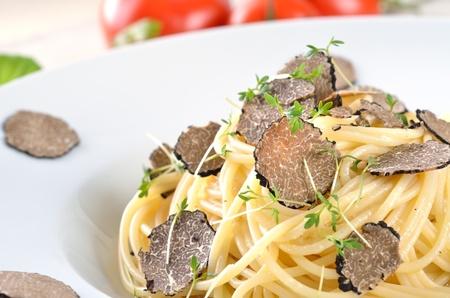 Spaghetti with fresh Italian truffle