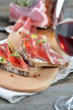 South Tyrolean smoked bacon on farmhouse bread