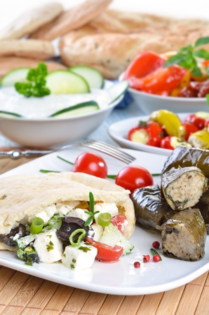 Cold greek appetizers photo