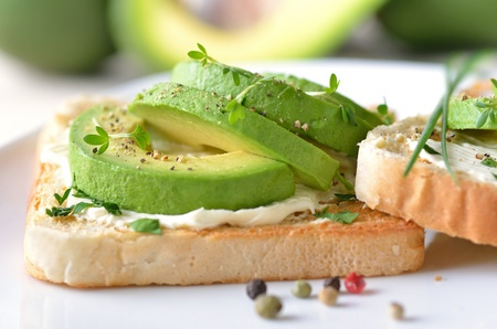 Avocado on toast Stock Photo - 12072410