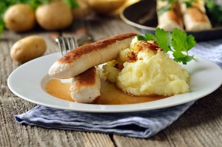 Fried Bavarian sausages, so-called  Reklamní fotografie