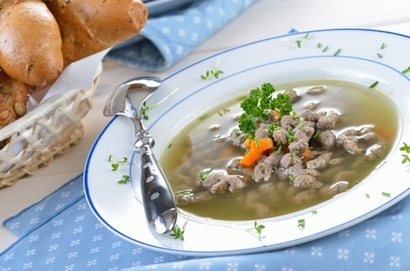 swabian: Bavarian, Swabian and Austrian dish: liver noodles in a beef soup