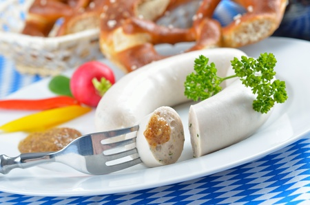 Bavarian white sausages photo