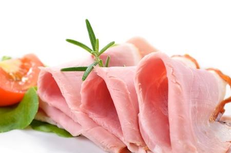 Delicious cooked ham Stock Photo