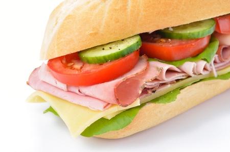 Sandwich with cooked ham Reklamní fotografie