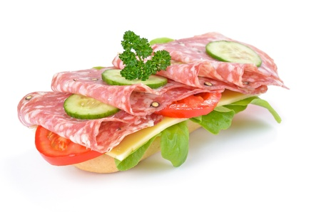 Sandwich with italian salami photo