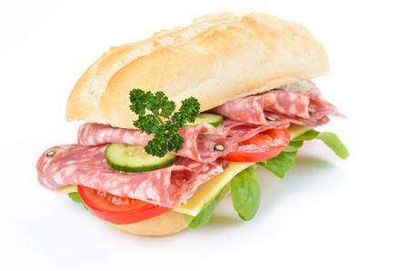 Sandwich with italian salami